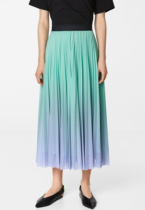 BIMBA Y LOLA PLEATED SUNSET SKIRT - A-line skirt - sunset lilac/aqua