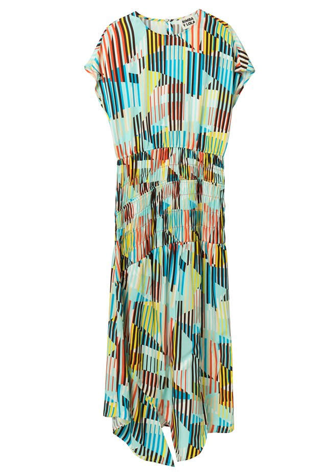 AQUA WIND-STRIPES  - Korte jurk - wind stripes aqua