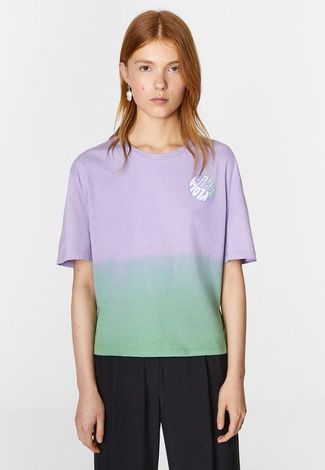 Print T-shirt - sunset lilac-aqua