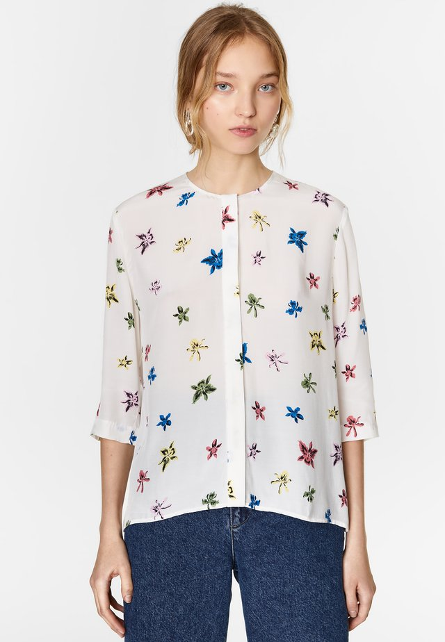 BIMBA Y LOLA WHITE MULTICOLOR-ORCHID BLOUSE - Blouse - multicolor/orchid white