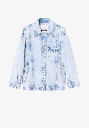 BIMBA Y LOLA STRAIGHT DENIM JACKET - Denim jacket - acid wash blue