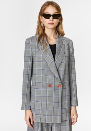 BIMBA Y LOLA BLACK PRINCE OF WALES BLAZER - Short coat - black