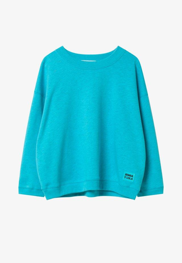 BIMBA Y LOLA SHORT BLUE SWEATSHIRT - Sweatshirt - pool blue
