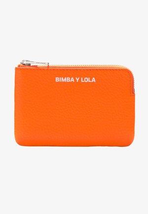 BIMBA Y LOLA ORANGE LEATHER RECTANGULAR COIN PURSE - Geldbörse - neon orange