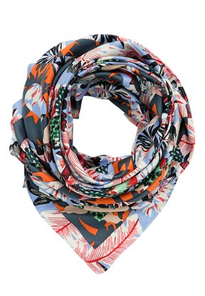 BIMBA Y LOLA BLUE TROPICAL FOREST SCARF - Scarf - blue