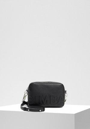 BIMBA Y LOLA BLACK LEATHER CROSSBODY BAG LOGO - Across body bag - black