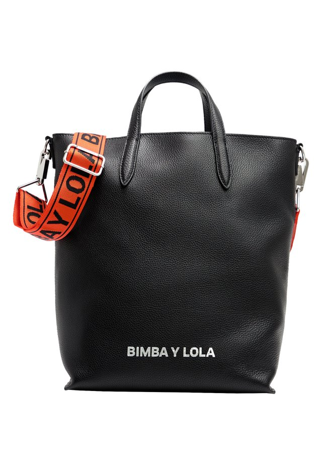 BIMBA Y LOLA L BLACK LEATHER VERTICAL SHOPPER BAG - Handtas - black