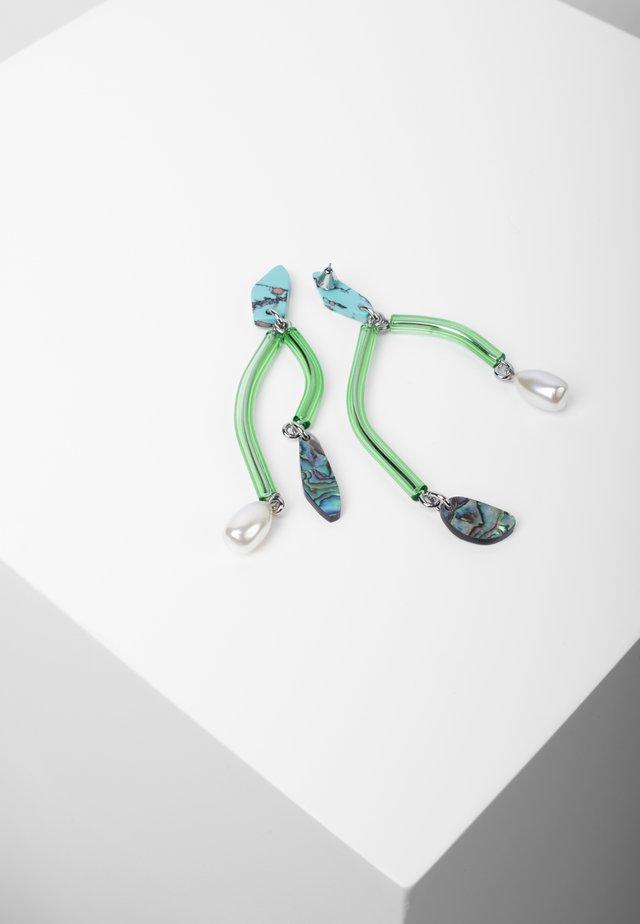 Oorbellen - turquoise
