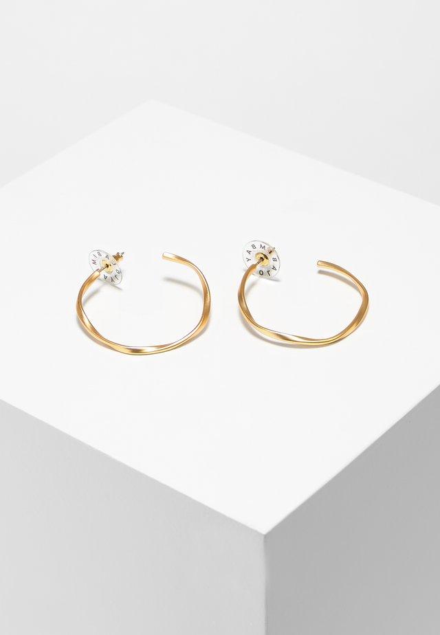 BIMBA Y LOLA UNEVEN GOLDEN THIN HOOP EARRINGS - Earrings - gold