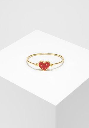 BIMBA Y LOLA CORAL HEART RIGID BRACELET LOGO - Armband - red
