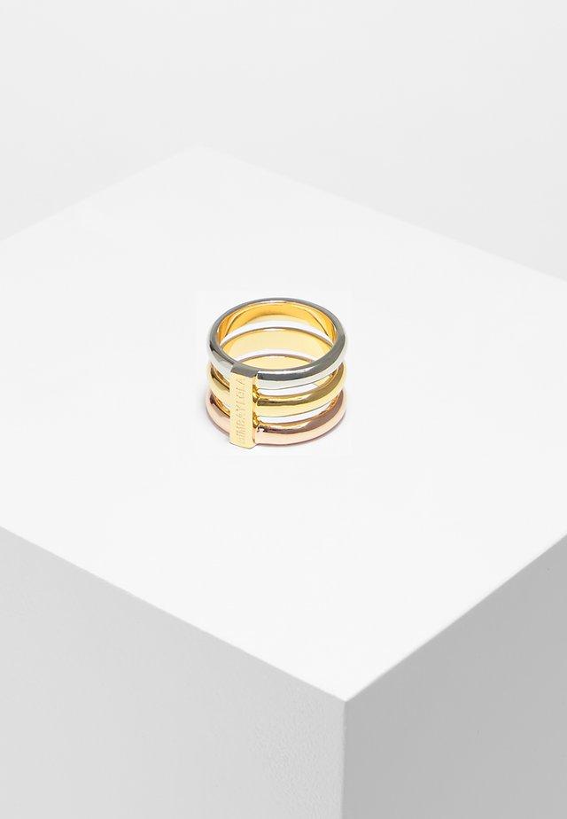 BIMBA Y LOLA THREE-BAND WIDE RING - Ring - multi gold