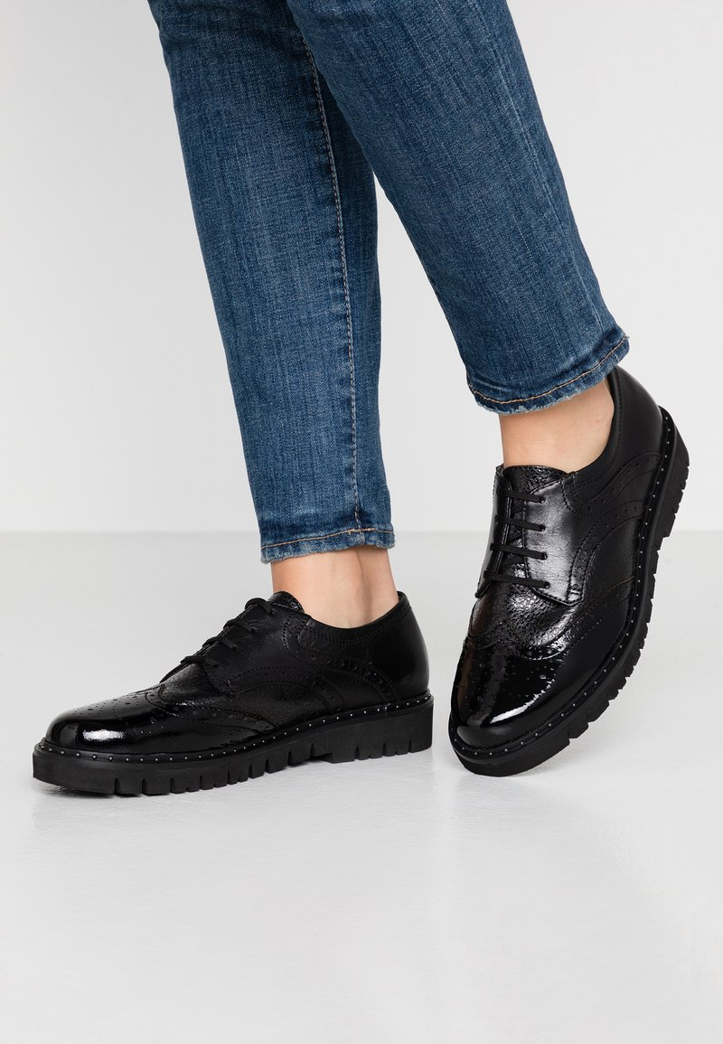 Be Natural - LACE-UP - Derbies - black
