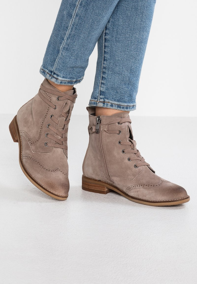 Be Natural - Schnürstiefelette - taupe