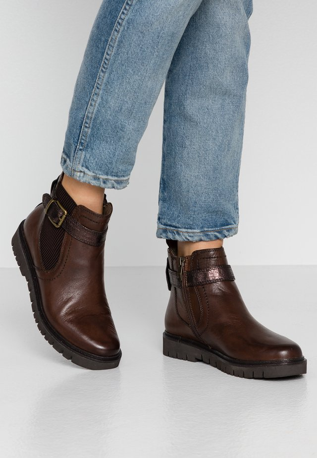 WOMS  - Ankle Boot - mocca