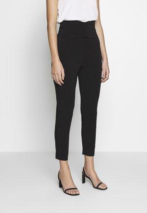 CORSET PANT - Spodnie materiałowe - black