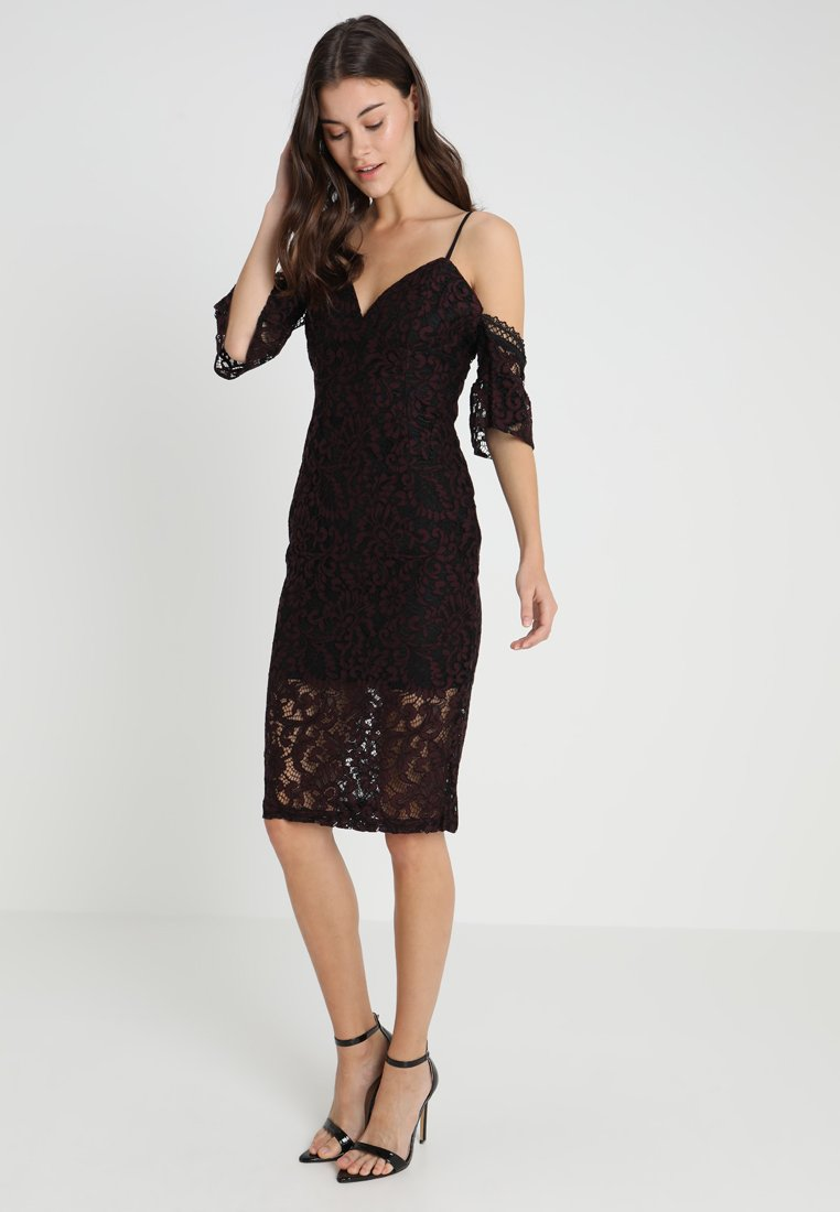 Bardot - TAEGAN MIDI DRESS - Cocktailkleid/festliches Kleid - wine