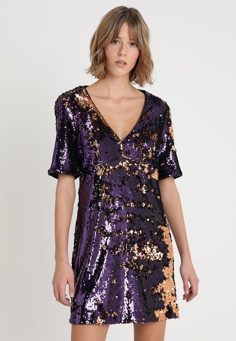 Bardot - MULTI SEQUIN DRESS - Vestido de cóctel - gold/purple