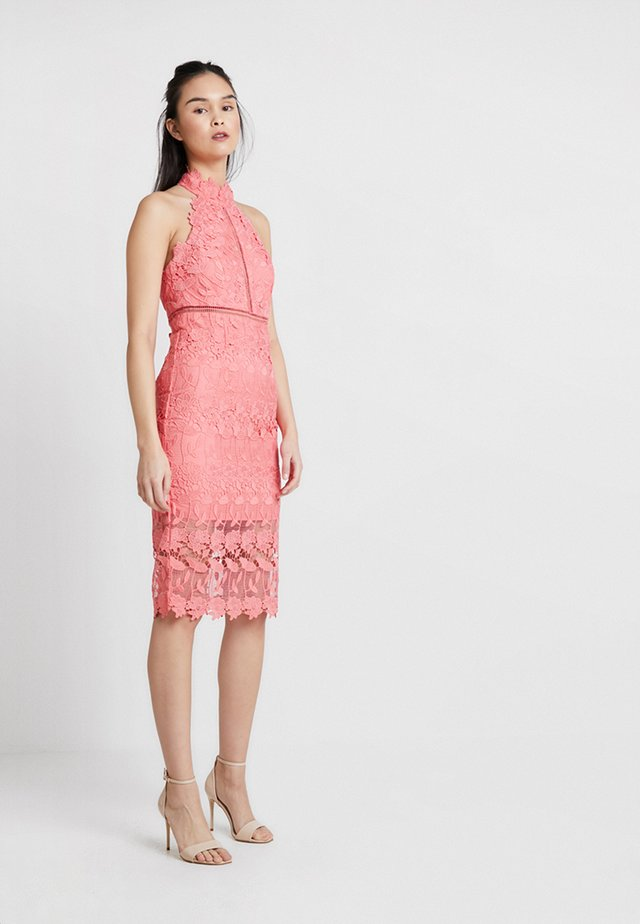 NONI HALTER DRESS - Juhlamekko - bright melon