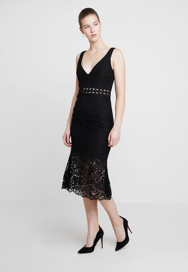 FIONA TRUMPET DRESS - Cocktailkjoler / festkjoler - black