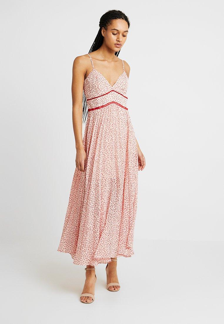 Bardot - BROOKE PLEATED DRESS - Maxi dress - red/white