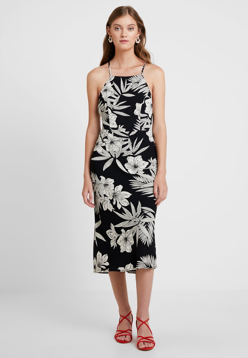 Bardot - HALTER DRESS - Day dress - black/white