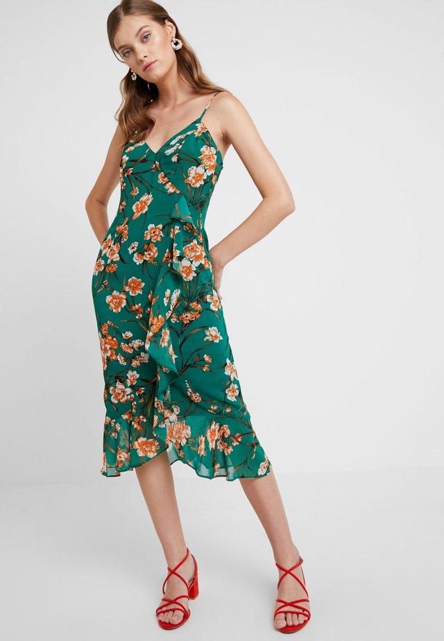 MALIKA FLORAL DRESS - Maxiklänning - orange