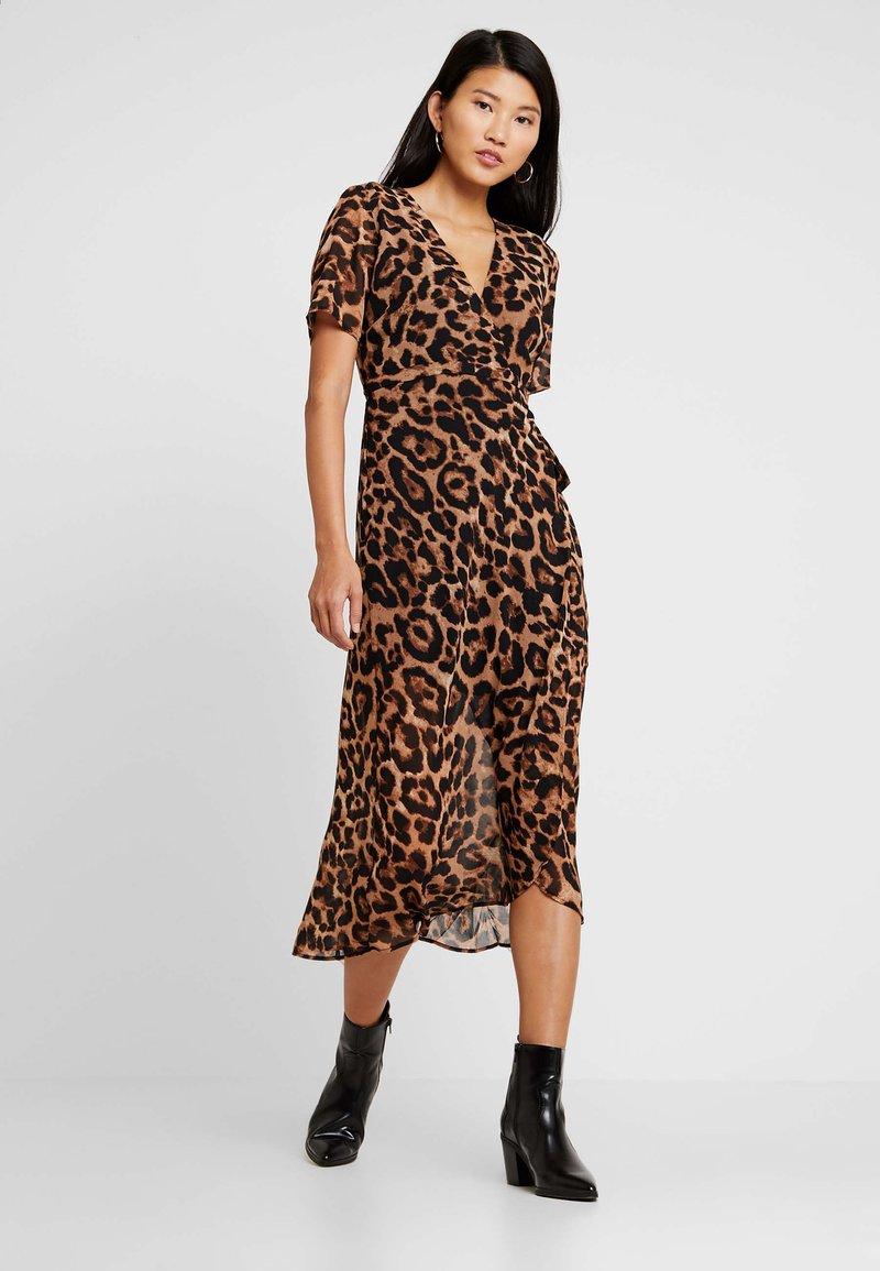 Bardot - LEOPARD WRAP DRESS - Maxikleid - multi-coloured