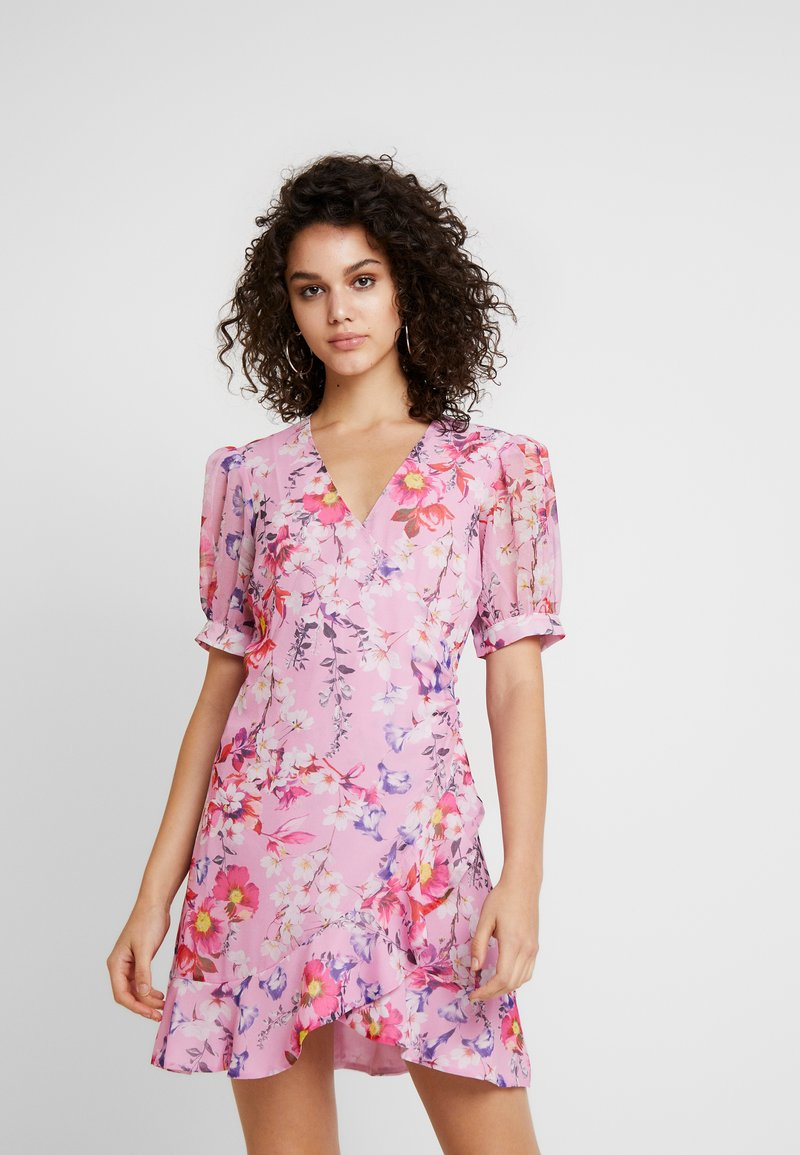 Bardot - LOLITA FLORAL DRESS - Day dress - neon