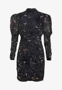 Bardot - CONSTELLATION DRESS - Pouzdrové šaty - black/white - 5