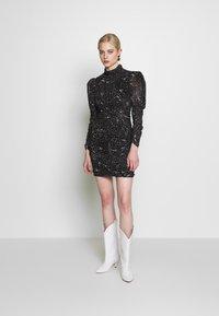 Bardot - CONSTELLATION DRESS - Pouzdrové šaty - black/white - 1