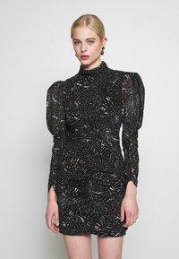 Bardot - CONSTELLATION DRESS - Pouzdrové šaty - black/white - 0