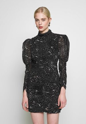 CONSTELLATION DRESS - Tubino - black/white