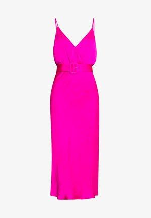 REAGAN MIDI DRESS - Day dress - shock pink