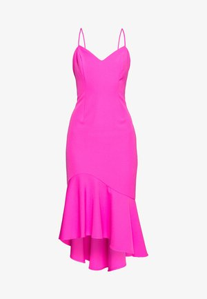 LISANDRA MIDI DRESS - Cocktail dress / Party dress - pink shock