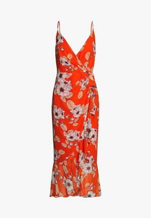 LORETTA DRESS - Korte jurk - poppy