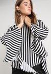 Bardot - QUEENIE CUT OUT - Blouse - black/white