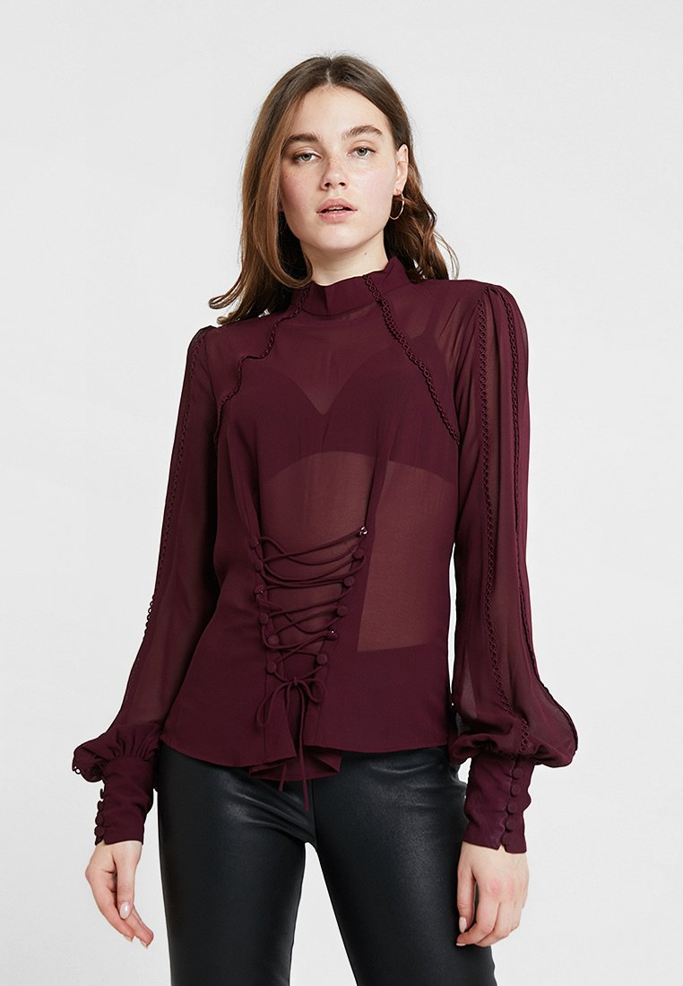 Bardot - CANDICE TRIM - Blouse - wine