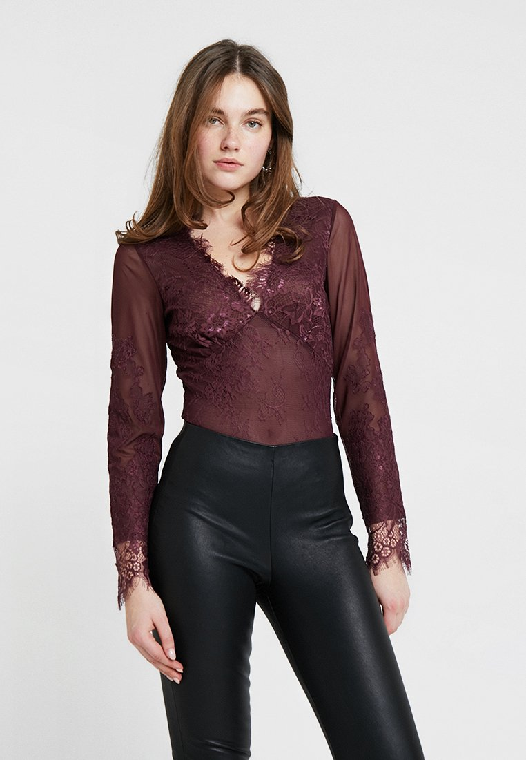 Bardot - BODYSUIT - Blouse - wine