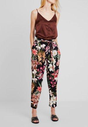 Spodnie materiałowe - black/purple
