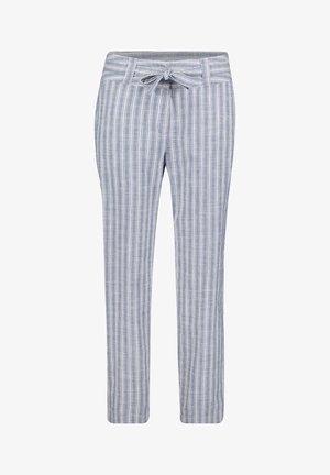 MIT STREIFEN - Trousers - classic blue/white