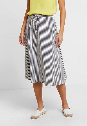 A-snit nederdel/ A-formede nederdele - white/blue