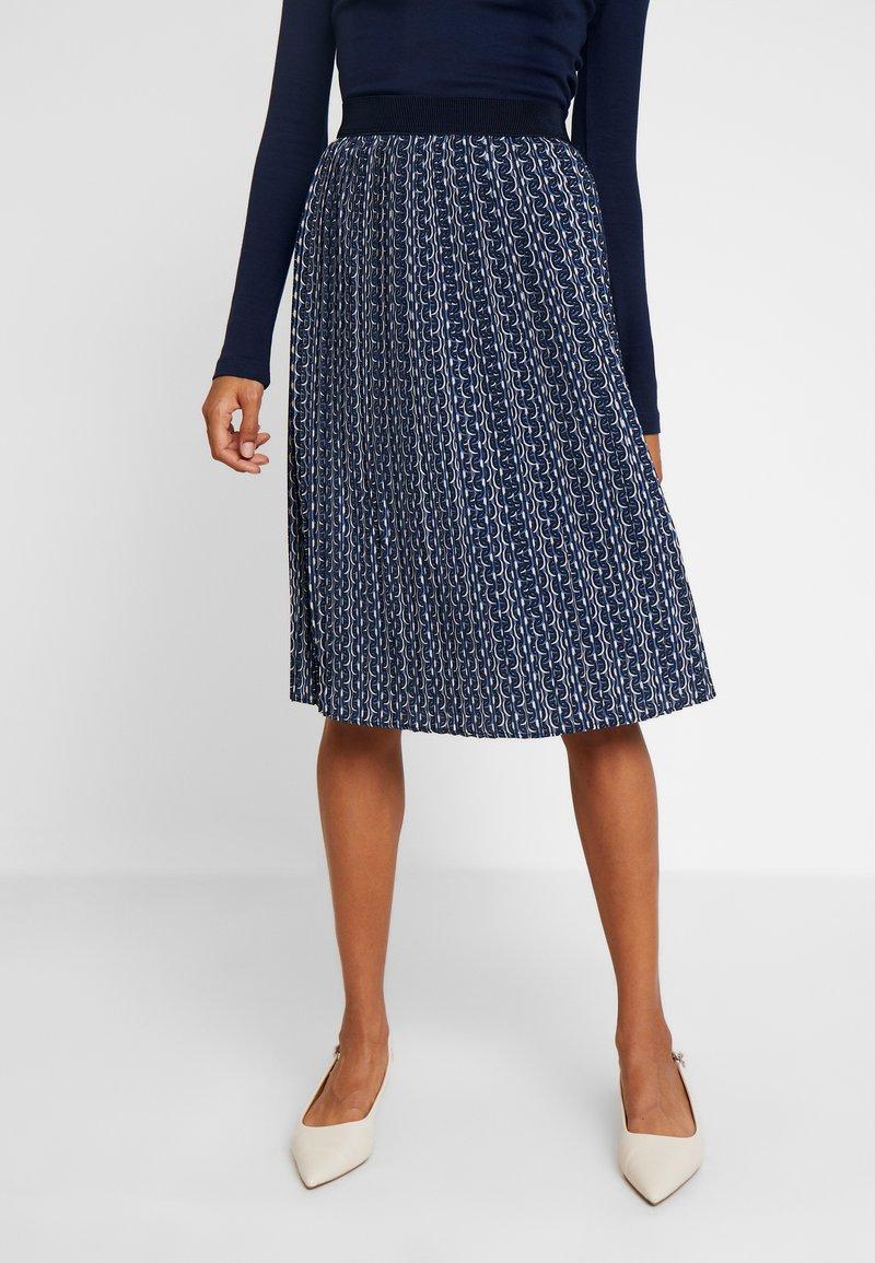 Betty & Co - ROCK - Veckad kjol - blue/nature