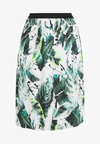 Betty & Co - A-line skirt - white/green - 3