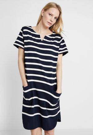 Pletené šaty - blue/white