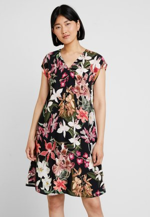 KURZ - Day dress - black/purple