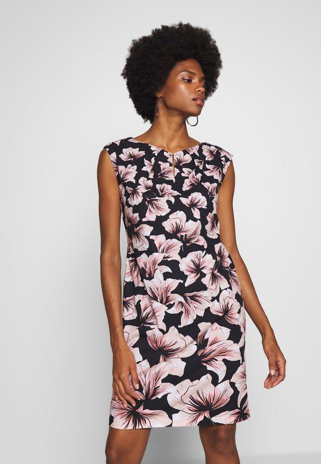 Vestido de tubo - black/rosé