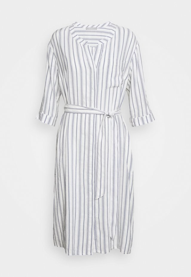 Shirt dress - white/blue