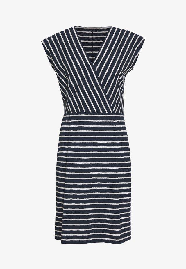 Jersey dress - blue/cream