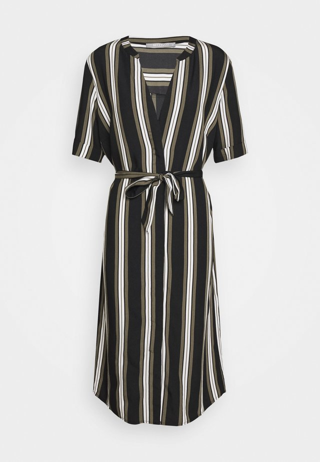Sukienka letnia - khaki/black