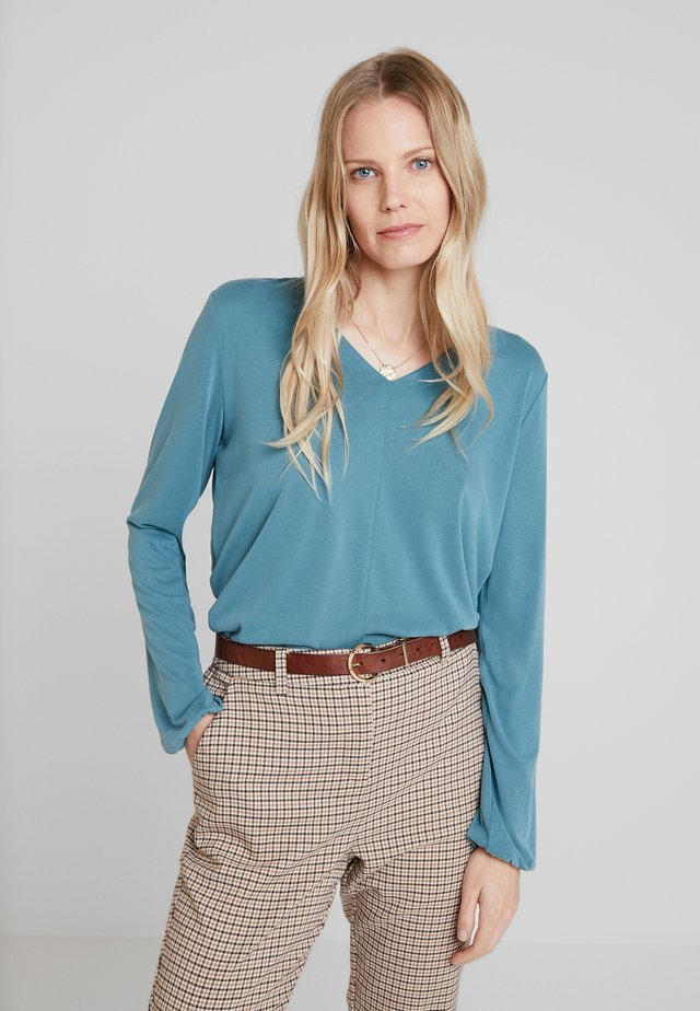 Blouse - slate blue